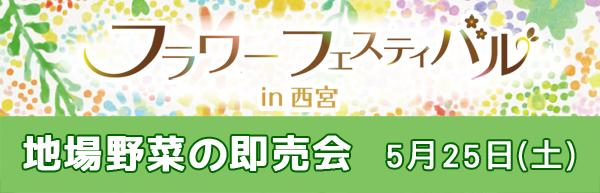 フラワーフェスティバル 地場野菜の即売会 5月25日 土曜日10時~